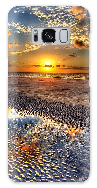 Low Tide Sunrise On Jekyll Island Galaxy Case