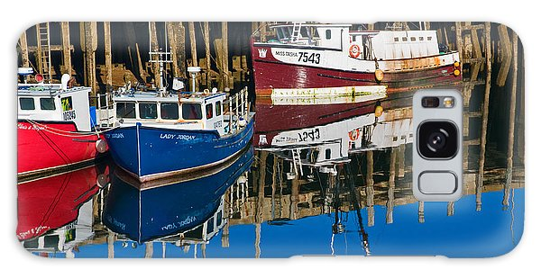 Boats And Reflections At Low Tide On Digby Bay Nova Scotia Galaxy Case
