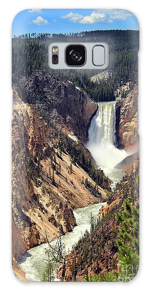 Lower Falls Of Yellowstone Galaxy Case