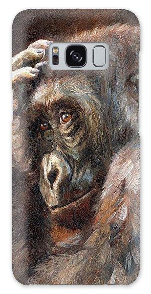Lowland Gorilla Galaxy Case by David Stribbling