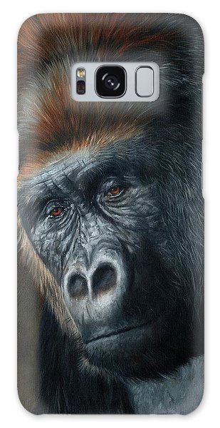 Gorilla Galaxy S8 Case - Lowland Gorilla Painting by David Stribbling