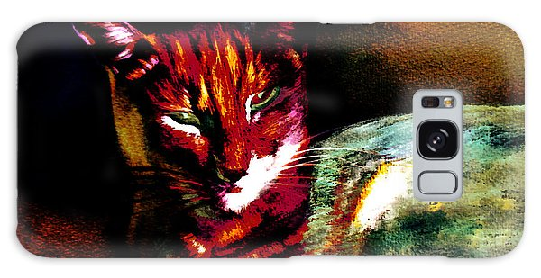Lucifer Sam Tiger Cat Galaxy Case