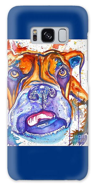 Lucille Boxer Blues  Galaxy Case by D Renee Wilson