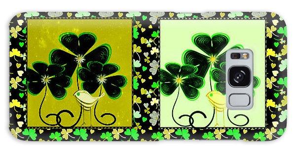 Lucky Irish Yellow Warblers Galaxy Case