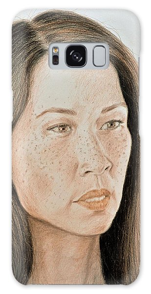Hyper-realistic Galaxy Case - Lucy Liu Natural Beauty by Jim Fitzpatrick