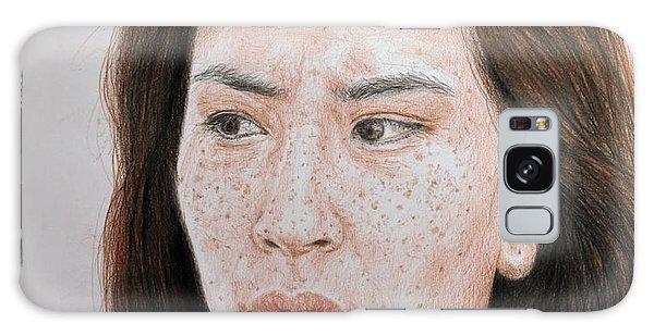 Hyper-realistic Galaxy Case - Lucy Liu The Stare by Jim Fitzpatrick