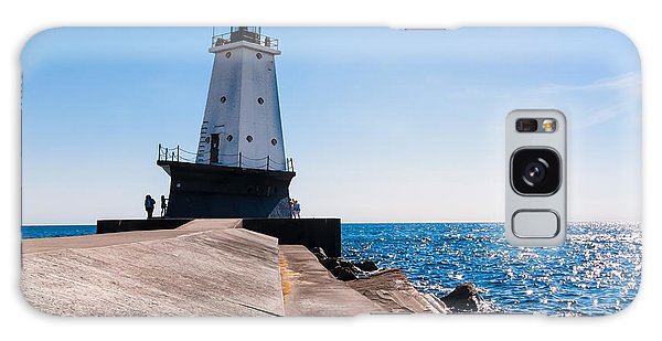 Ludington Lighthouse Galaxy Case