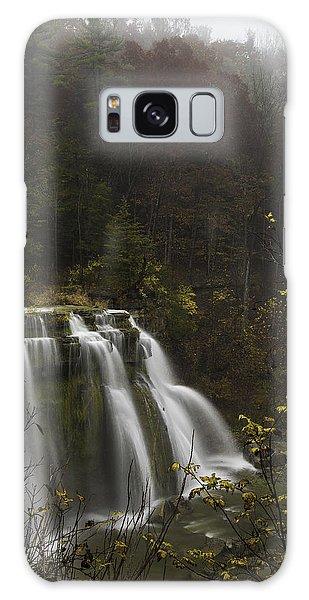 Ludlowville Falls In Autumn I Galaxy Case