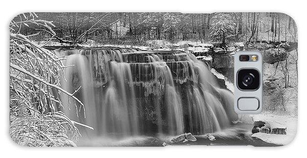 Ludlowville Falls In Winter I Galaxy Case
