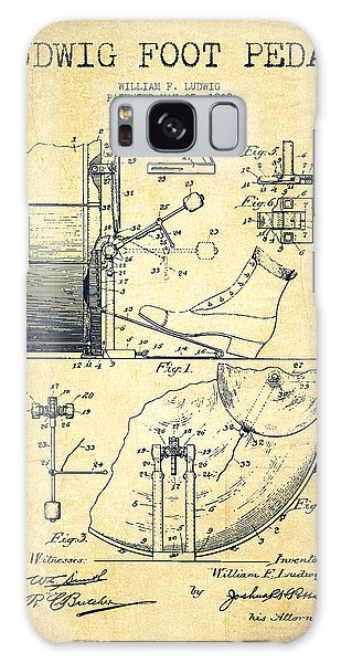 Ludwig Foot Pedal Patent Drawing From 1909 - Vintage Galaxy Case