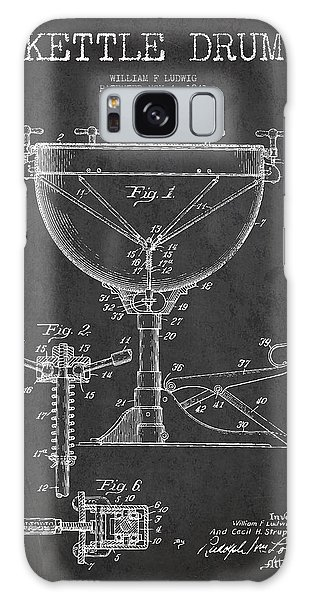Drum Galaxy S8 Case - Ludwig Kettle Drum Drum Patent Drawing From 1941 - Dark by Aged Pixel