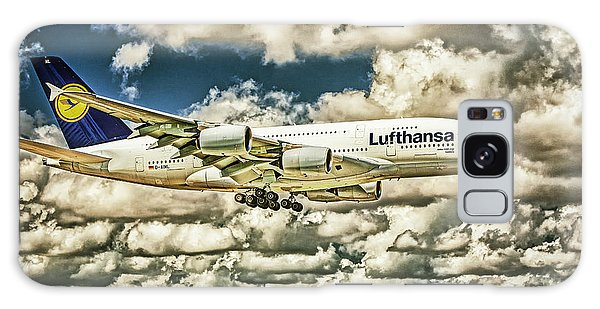 Lost In The Clouds Lufthansa A380 Named Hamburg-colorized Abstract Galaxy Case