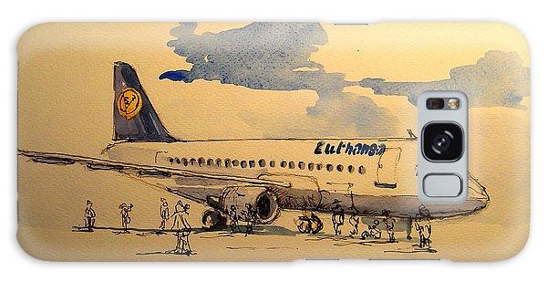 Jet Galaxy Case - Lufthansa Plane by Juan  Bosco