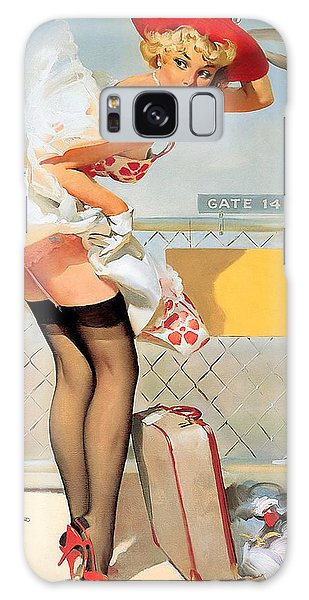 Luggage Accident Pin-up Girl Galaxy Case