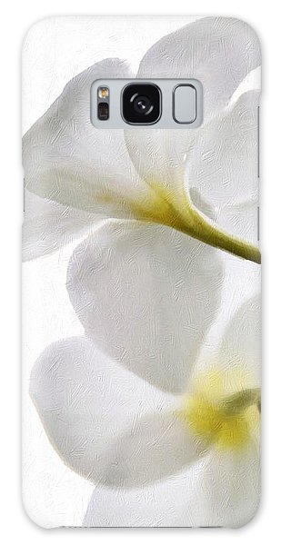 Luminous Plumeria Galaxy Case by Darla Wood