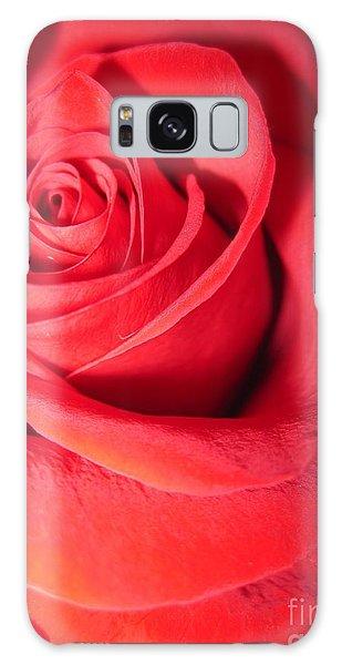 Luminous Red Rose 6 Galaxy Case