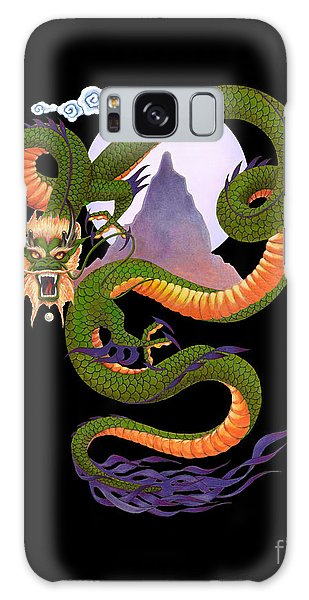Realistic Galaxy Case - Lunar Chinese Dragon On Black by Melissa A Benson