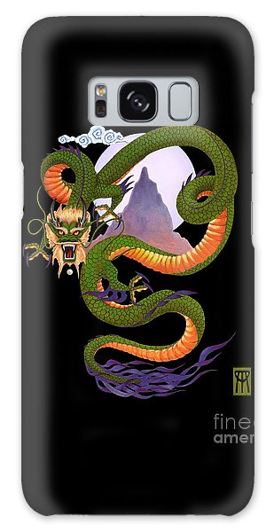Dragon Galaxy Case - Lunar Chinese Dragon On Black by Melissa A Benson