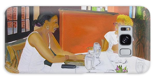Lunch At Olivadi's  Galaxy Case by Barbara Hayes