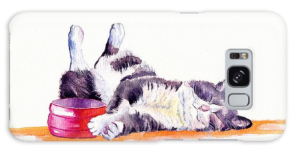 Cat Galaxy S8 Case - Lunch Break by Debra Hall