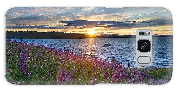 Lupine Sunset On Long Lake Galaxy Case