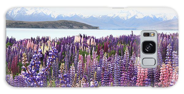 Lupins At Tekapo Galaxy Case by Nareeta Martin