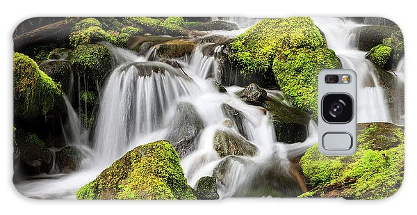 Ecosystem Galaxy Case - Lush Waterfall Olympic National Park by Tom Norring