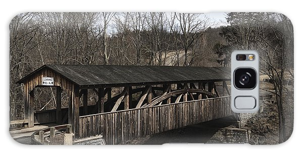 Luther's Mill Covered Bridge Galaxy Case