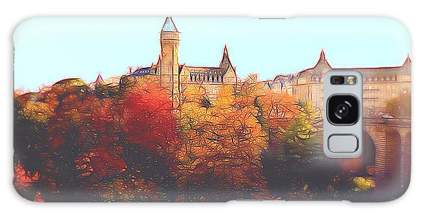 Luxembourg City Skyline Galaxy Case by Dennis Lundell