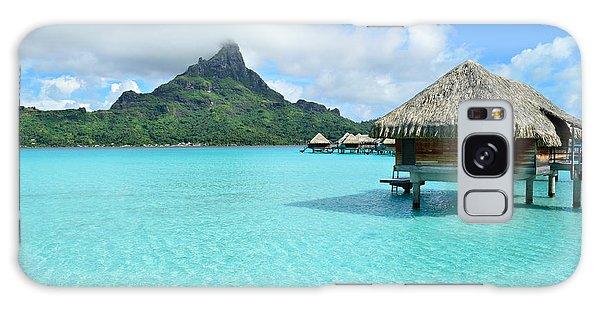 Luxury Overwater Vacation Resort On Bora Bora Island Galaxy Case