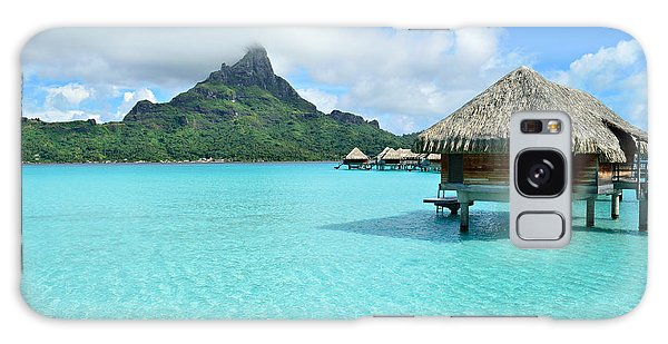 Luxury Overwater Vacation Resort On Bora Bora Island Galaxy Case by IPics Photography