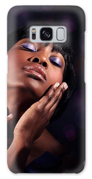 Luxury Woman's Portrait Galaxy Case