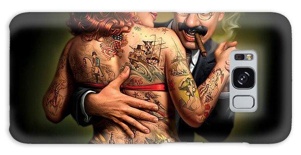 Dress Galaxy Case - Lydia The Tattooed Lady by Mark Fredrickson