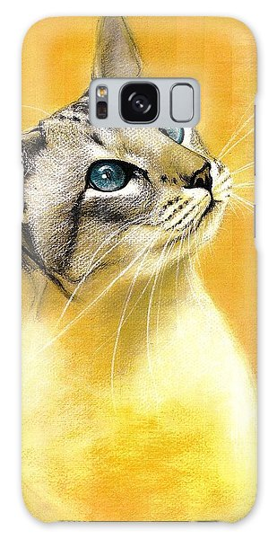 Lynx Point Siamese Galaxy Case by VLee Watson