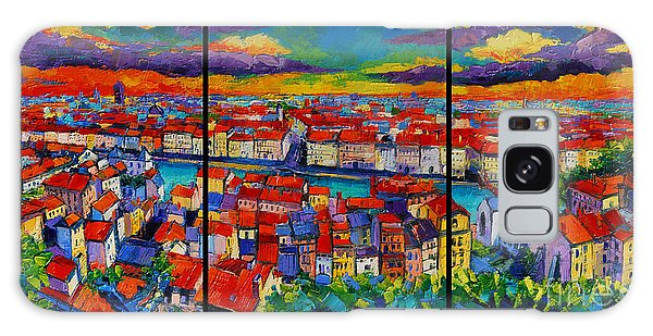 Lyon Panorama Triptych Galaxy Case