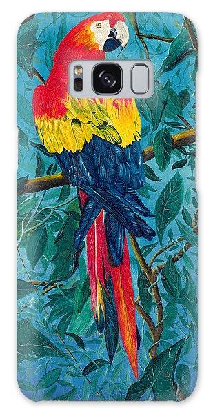Macaw Galaxy Case by Carl Genovese