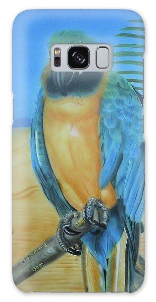 Macaw On A Limb Galaxy Case