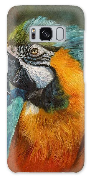 Macaw Galaxy Case - Macaw Parrot by David Stribbling