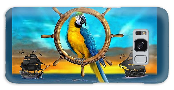 Macaw Pirate Parrot Galaxy Case