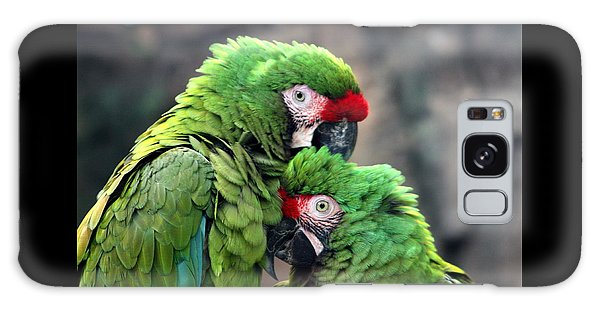 Macaws In Love Galaxy Case by Diane Merkle