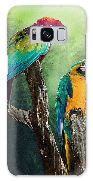 Macaws Siesta Time Galaxy Case by Brian Tarr
