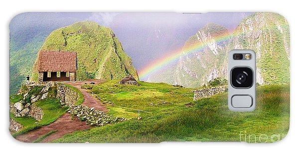 Machu Picchu Rainbow Galaxy Case by Michele Penner