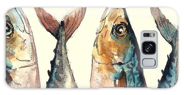 Atlantic Ocean Galaxy Case - Mackerel Fishes by Juan  Bosco