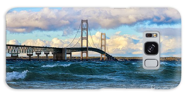 Mackinac Among The Waves Galaxy Case