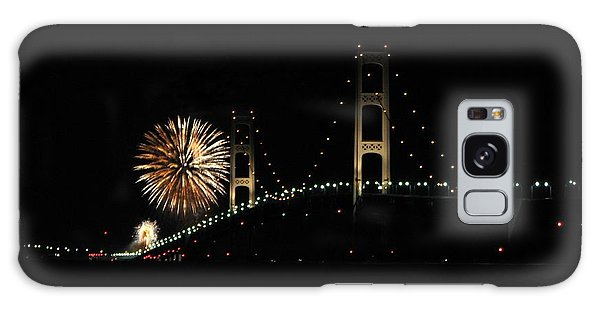Mackinac Bridge 50th Anniversary Fireworks Galaxy Case