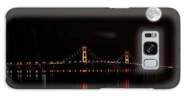 Mackinac Bridge And Moon Galaxy Case