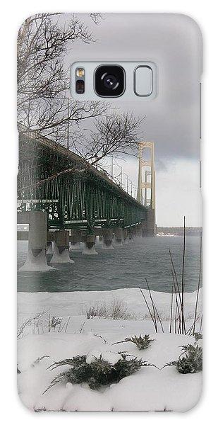 Mackinac Bridge At Christmas Galaxy Case