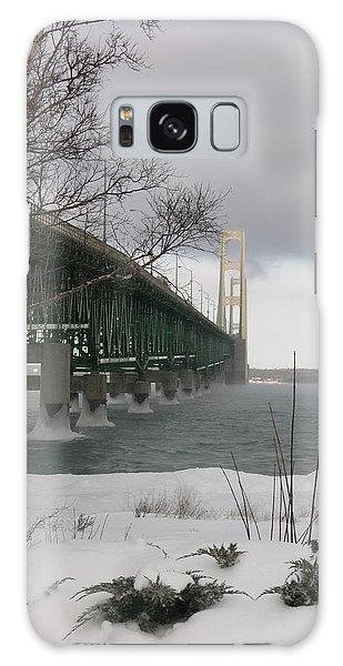 Mackinac Bridge At Christmas Galaxy Case