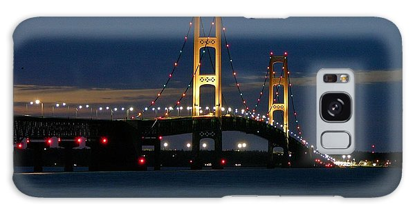 Mackinac Bridge At Dusk Galaxy Case