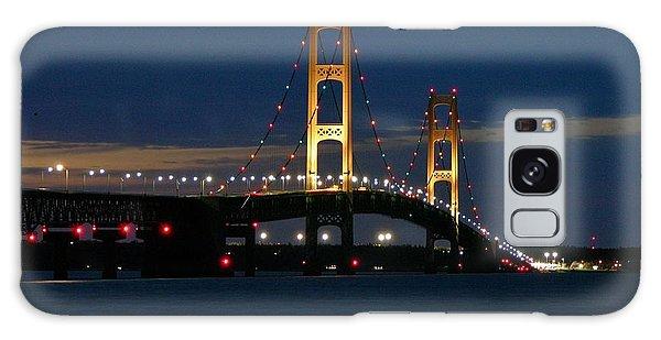 Mackinac Bridge At Dusk Galaxy Case